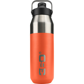 360° degrees Wide Mouth Gourde isotherme avec bouchon Sipper 1000ml, orange